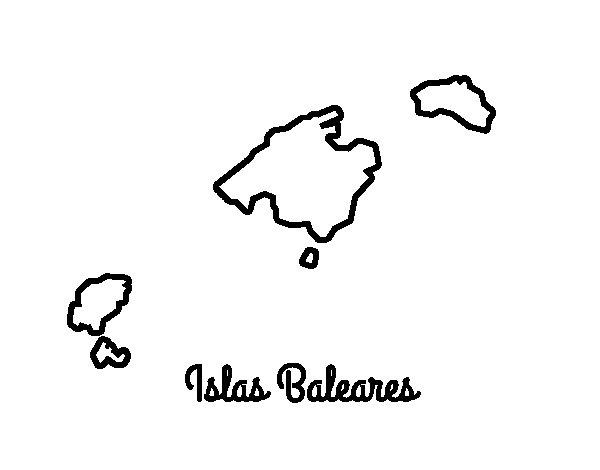 Coloriage de Îles Baléares pour Colorier