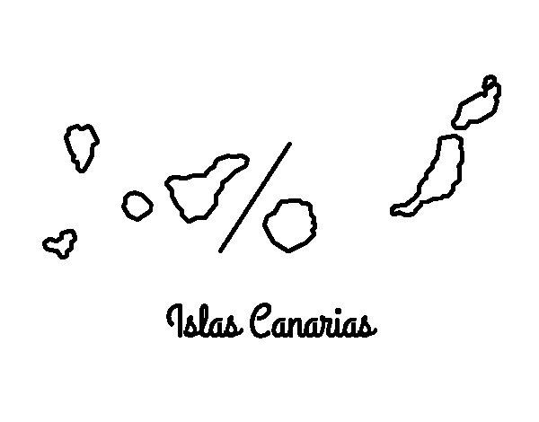 Coloriage de Îles Canaries pour Colorier