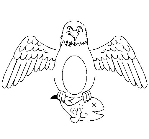 Coloriage de Aigle qui chasse pour Colorier