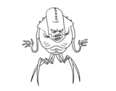 <span class='hidden-xs'>Coloriage de </span>Alien arachnide à colorier