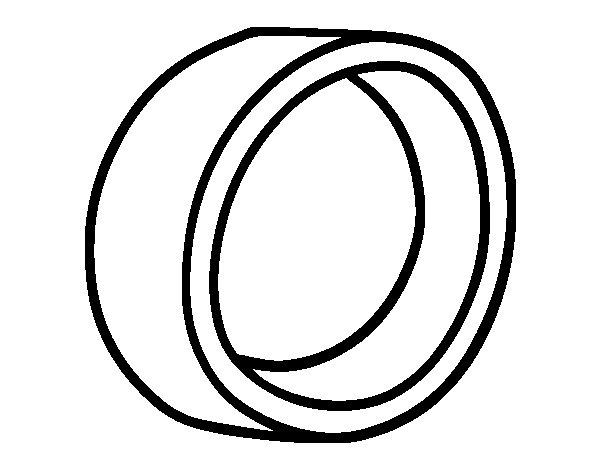 coloriage de anneau de mariage basic pour colorier