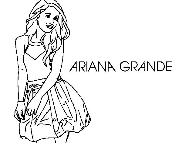 Coloriage de Ariana Grande pour