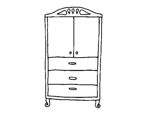 coloriage de armoire pour les v tements pour colorier. Black Bedroom Furniture Sets. Home Design Ideas