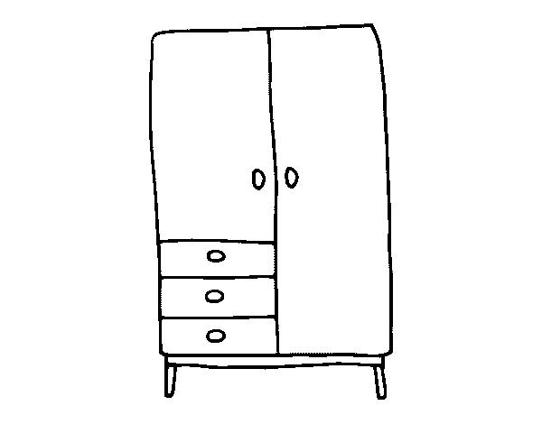 Coloriage de armoire pour colorier - Dessin d armoire ...