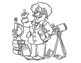 <span class='hidden-xs'>Coloriage de </span>Astronome à colorier