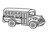 <span class='hidden-xs'>Coloriage de </span>Autobus scolaire aux États-Unis à colorier