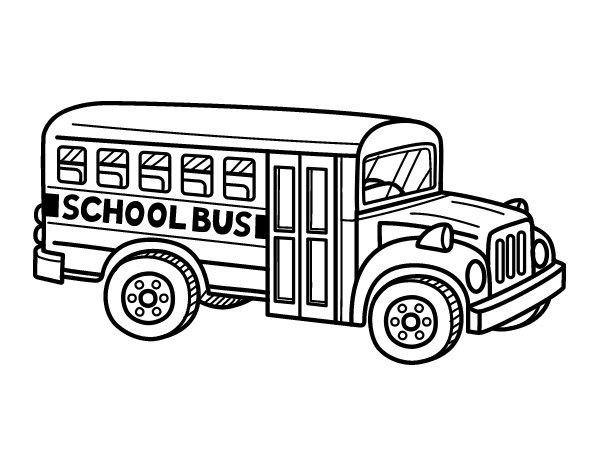 Coloriage de autobus scolaire aux tats unis pour colorier - Autobus scolaire dessin ...