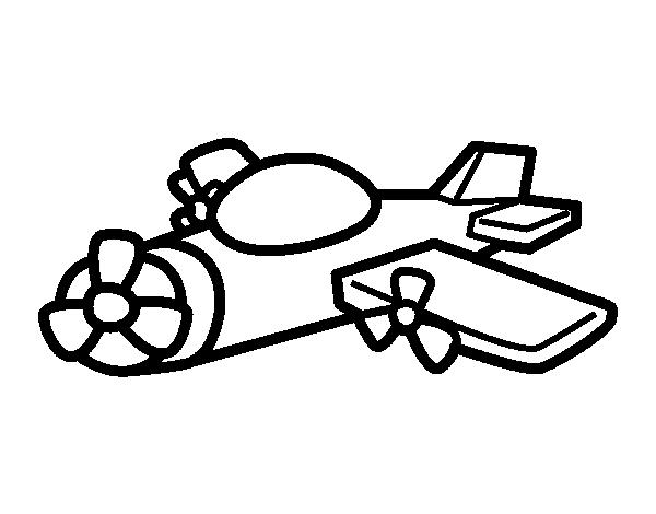 Coloriage de avion h lice pour colorier - Coloriage de avion ...