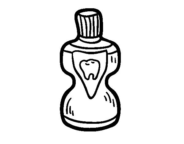 Coloriage de bain de bouche pour colorier for Bain de bouche antiseptique maison