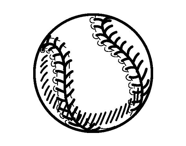 Coloriage de Balle baseball pour Colorier