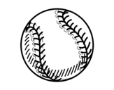 <span class='hidden-xs'>Coloriage de </span>Balle baseball à colorier