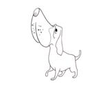 <span class='hidden-xs'>Coloriage de </span>Basset hound à colorier