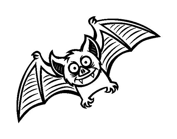 Coloriage de Bat convivial pour Colorier