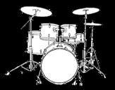 <span class='hidden-xs'>Coloriage de </span>Batterie de percussions à colorier