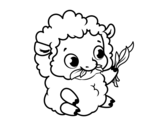 <span class='hidden-xs'>Coloriage de </span>Bébé mouton à colorier