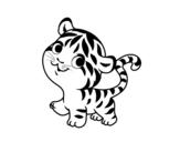<span class='hidden-xs'>Coloriage de </span>Bébé tigre à colorier