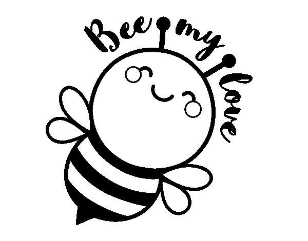 Coloriage de Bee my love pour Colorier