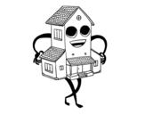 <span class='hidden-xs'>Coloriage de </span>Belle maison à colorier
