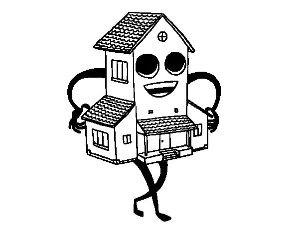 Coloriage de belle maison pour colorier - Dessin de belle maison ...