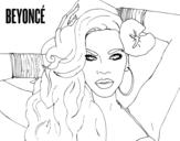 <span class='hidden-xs'>Coloriage de </span>Beyoncé à colorier