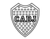 <span class='hidden-xs'>Coloriage de </span>Blason du Boca Juniors à colorier