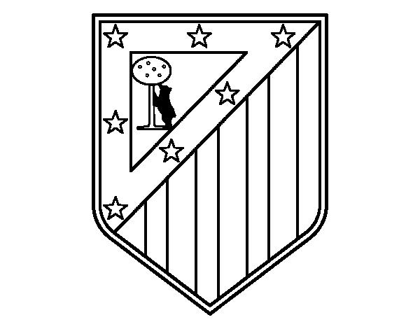 Dibujos Del Real Madrid Para Imprimir Y Colorear: Coloriage De Blason Du Club Atlético De Madrid Pour