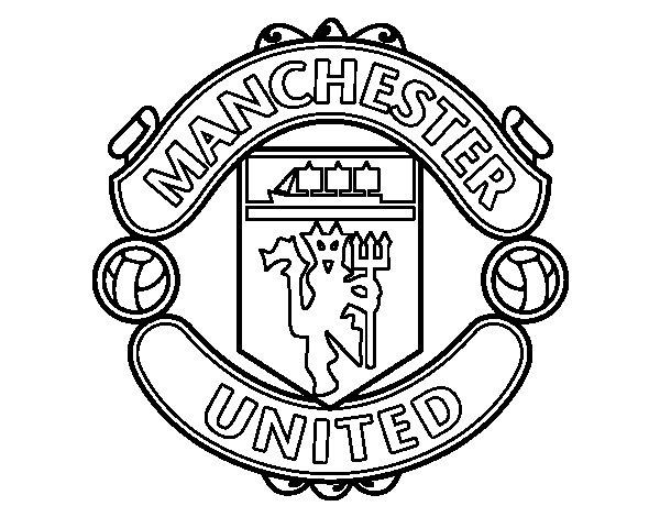 Célèbre Coloriage de Blason du Manchester United pour Colorier - Coloritou.com KB45