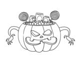 <span class='hidden-xs'>Coloriage de </span>Bonbons d'Halloween à colorier