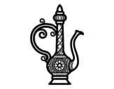<span class='hidden-xs'>Coloriage de </span>Bouilloire de Maroc à colorier
