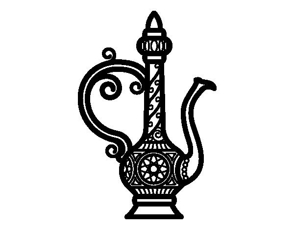 Coloriage De Bouilloire De Maroc Pour Colorier