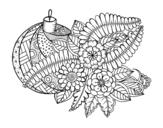 <span class='hidden-xs'>Coloriage de </span>Boule de Nöel avec décoration à colorier