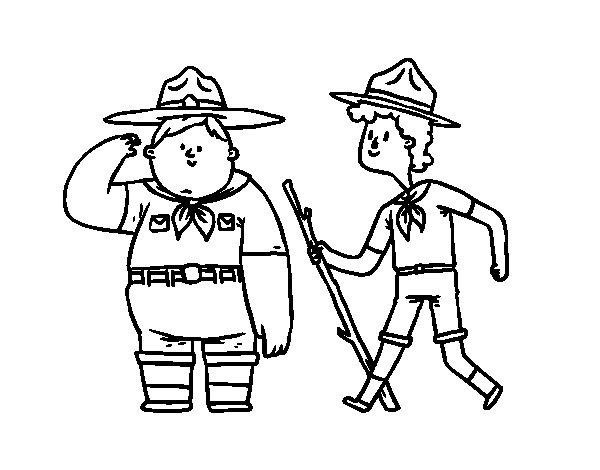 Coloriage de Boy Scouts pour Colorier