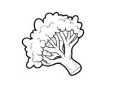 <span class='hidden-xs'>Coloriage de </span>Branche brocoli à colorier