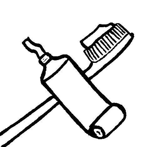 Coloriage de Brosse à dents pour Colorier