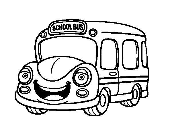 Coloriage de bus scolaire enfants pour colorier - Coloriage car scolaire ...