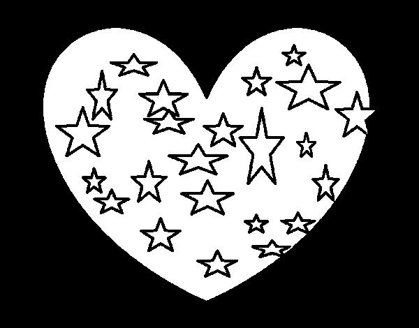 Coloriage de Cœur étoilé pour Colorier - Coloritou.com