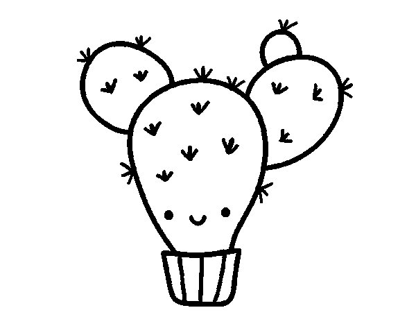 Coloriage de Cactus nopal pour Colorier