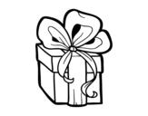 <span class='hidden-xs'>Coloriage de </span>Cadeau de Noël à colorier