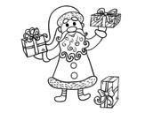 <span class='hidden-xs'>Coloriage de </span>Cadeaux du Père Noël à colorier