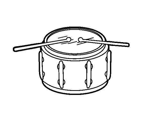 Coloriage de Caisse claire instrument pour Colorier