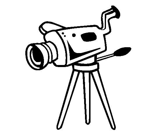 Coloriage de Caméra pour Colorier