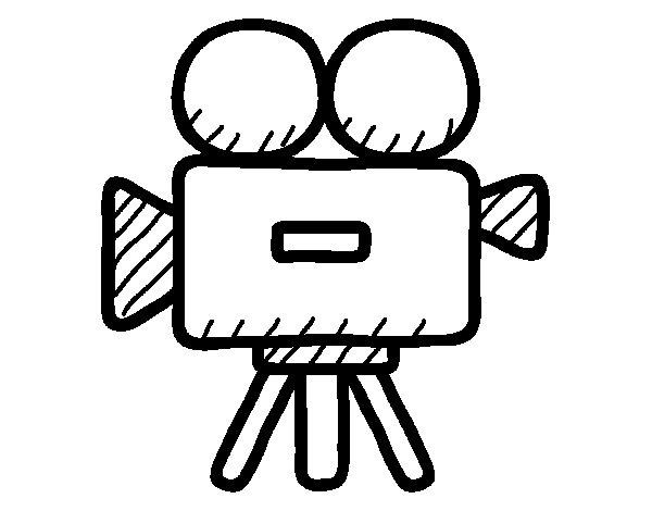 Coloriage de Caméra vidéo pour Colorier