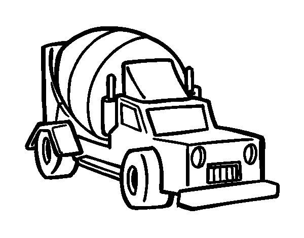 Coloriage de Camion bétonnière pour Colorier
