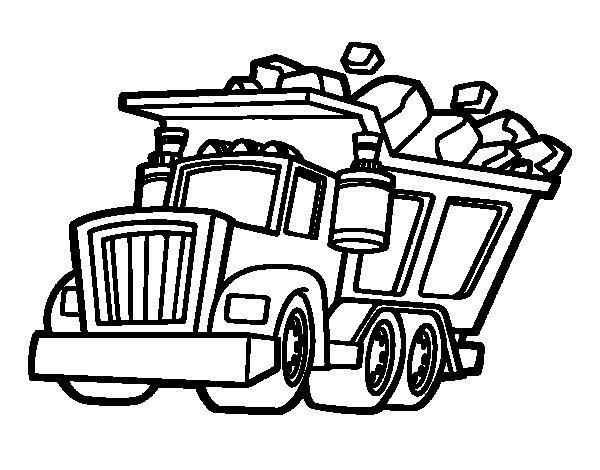 Coloriage de Camion chargé pour Colorier