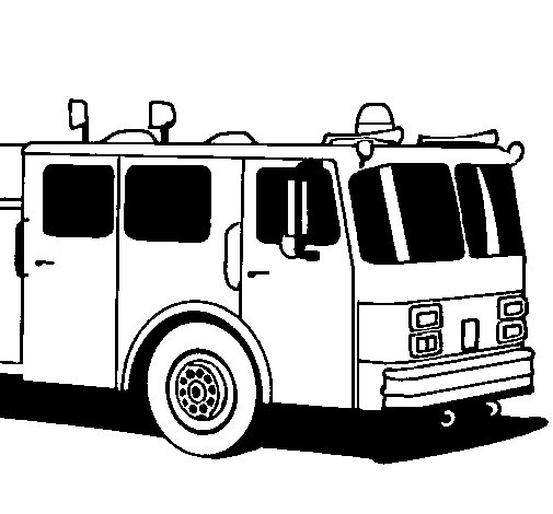 Coloriage de Camion de pompiers pour Colorier