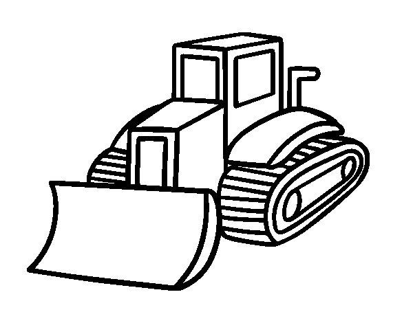 Coloriage de Camion palle pour Colorier