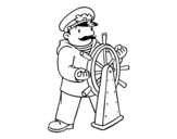 <span class='hidden-xs'>Coloriage de </span>Capitaine du navire à colorier