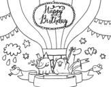 <span class='hidden-xs'>Coloriage de </span>Carte Joyeux anniversaire à colorier