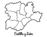 <span class='hidden-xs'>Coloriage de </span>Castille-et-León à colorier