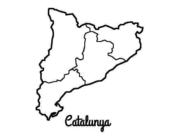 Coloriage de Catalogne pour Colorier